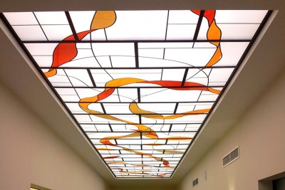 Decorative Glass Overlay Ceiling